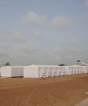 إعداد كرفانات الإدارة القابلة للفكّ و التركيب في السنغال