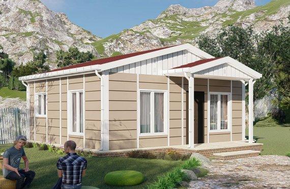 البيوت الجاهزة 45 متر مربع