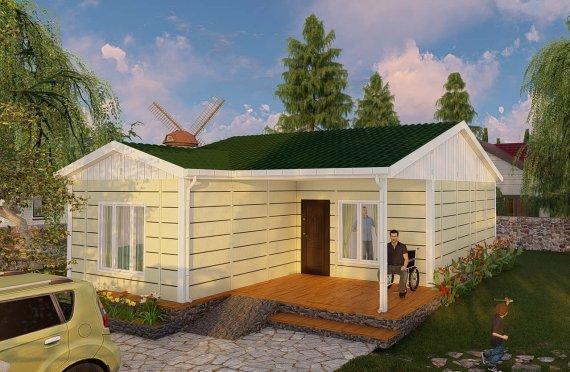 البيوت الجاهزة 73 متر مربع