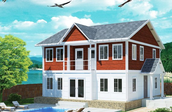 تصاميم منازل طابقين