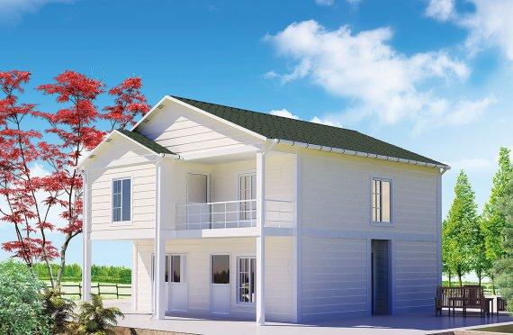 تصميم منازل صغيرة طابقين