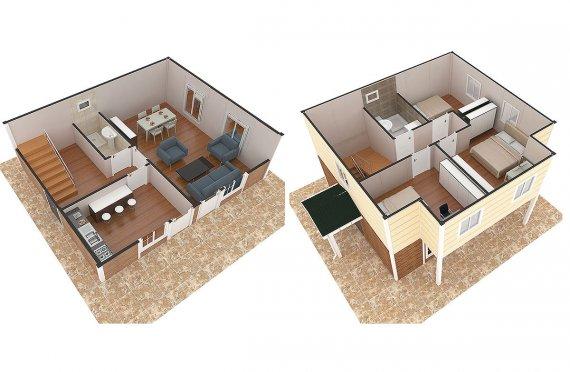 خرائط بيوت طابق واحد