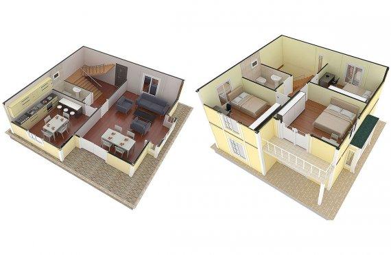مخطط بيوت