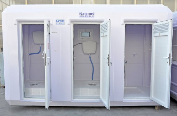 150x390  كابين مرحاض و حمام متنقل