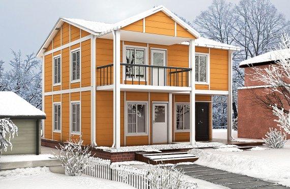 بيت مسبق الصنع 112 م²