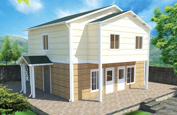 بيت مسبق الصنع 114 م²