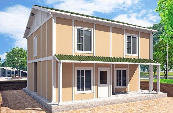 بيت مسبق الصنع 127 م²