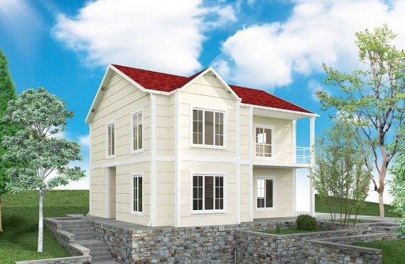 بيت مسبق الصنع 132 م²