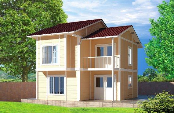 بيت مسبق الصنع 91 م²