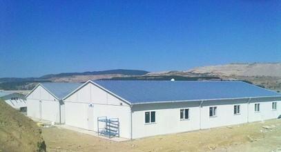 مخيم عمال مسبق الصنع لمحطة الطاقة الحرارية في تركيا