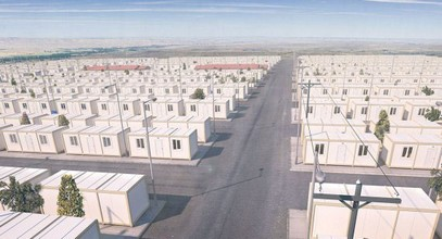 مشروع كرفاناتت سكنية للاجئين السوريين
