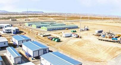 المباني الجاهزة لبناء مشروع شاهدينز -2 في أذربيجان